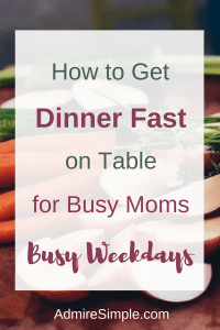 Meal plan, busy moms