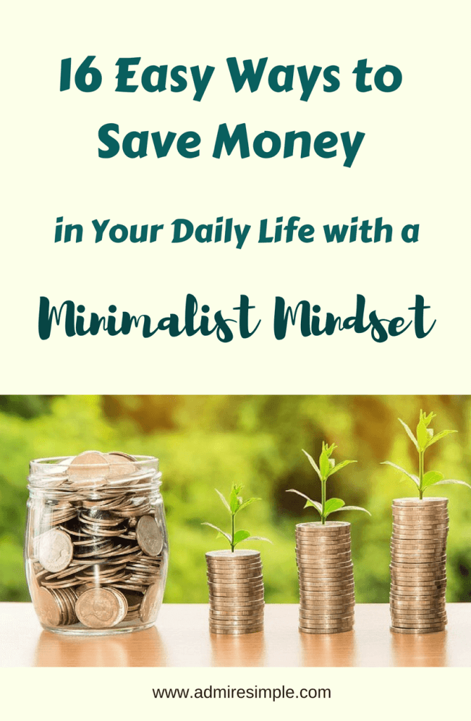 Save money with a minimalist mindset