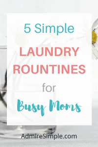simple laundry routines, simplify your life, minimalism