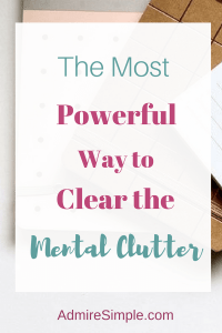 clear mental clutter