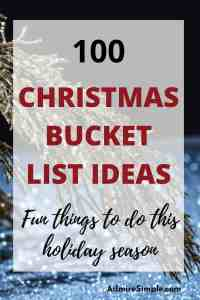 Christmas bucket list ideas, holiday activities, Christmas activities at home, fun things to do this Christmas