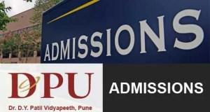 DPU DY Patil Vidyapeeth Pune Admissions