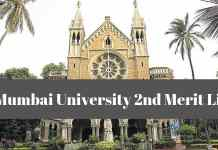 Mumbai University 2nd Merit List