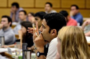 Cornell's Johnson School of Management enrolled its largest one-year M.B.A. class this year, and has started a new program on the digital economy at Cornell Tech in New York City. Credit Heather Ainsworth for The New York Times