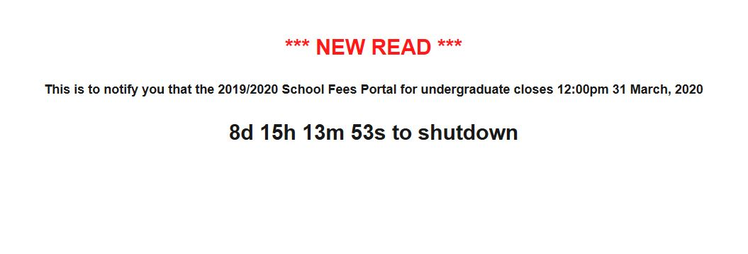 Has NDU School Fees Payment Portal Been Reopened?