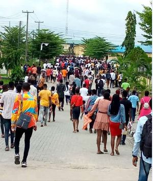 NDU Students School Fees Portal Protest Day 2: Students Demand for Urgent Reopening of School Fees Portal