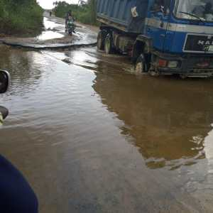 Poor state of Otuoke road
