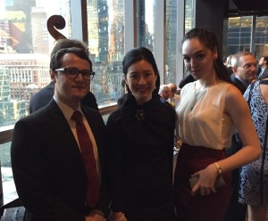 The Admissions Office's Eloy Oliveira, Grace Han, and Adriana Popa attended the 2016 Global Leadership Awards.