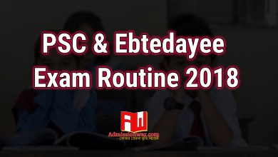 Photo of PSC Exam Routine 2018 with Ebtedayee Routine | dpe.gov.bd