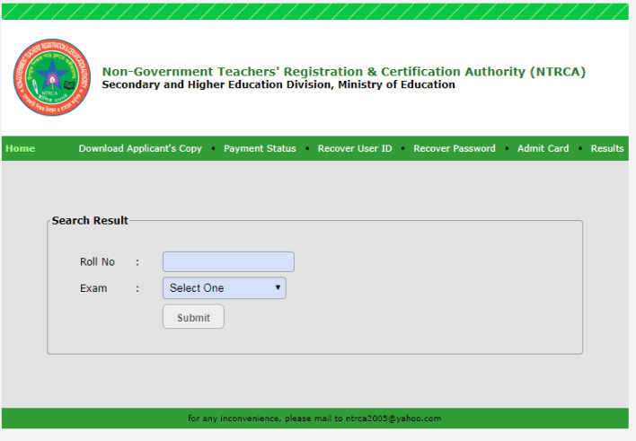 15th NTRCA Result 2019 Download PDF