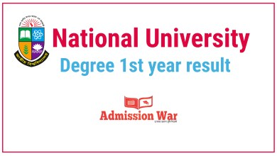 Photo of National University Degree 1st year Result 2020 With Marksheet