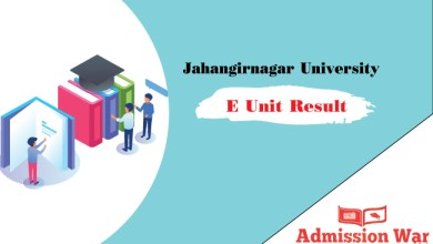 Jahangirnagar University E Unit Result 2019-20
