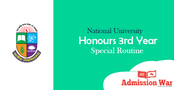 nu honours 3rd year special routine