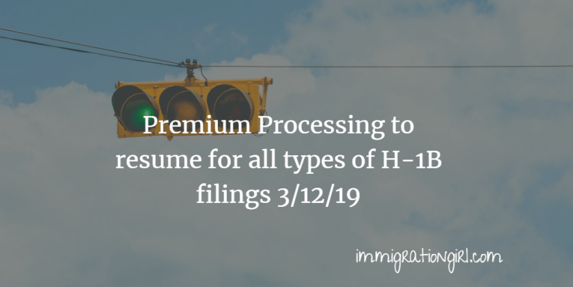 USCIS Resumes Premium Processing for All H-1B Petitions - Admit School