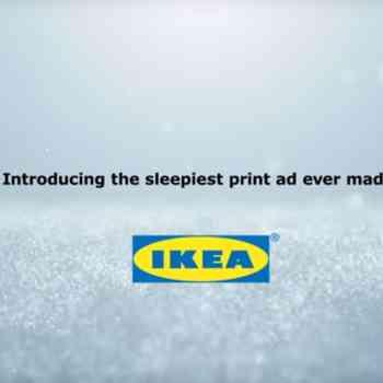 ikea reklama biały szum