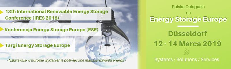 Targi Energy Storage Europe 12-14 marca 2019 Düsseldorf