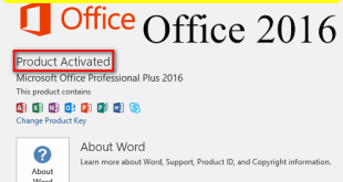 HOW TO activate office 2016
