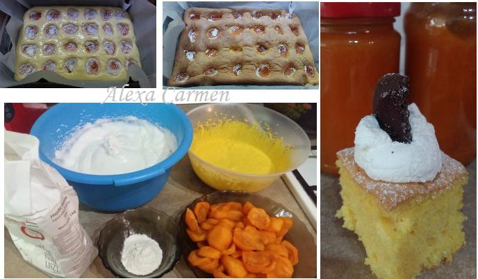 pregatire prajitura cu caise