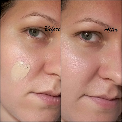 beore and after bb cream