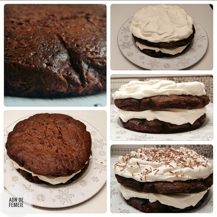 asamblare tort din ciocolata