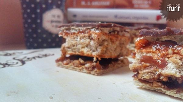 Sectiune prajitura crocanta cu caramel