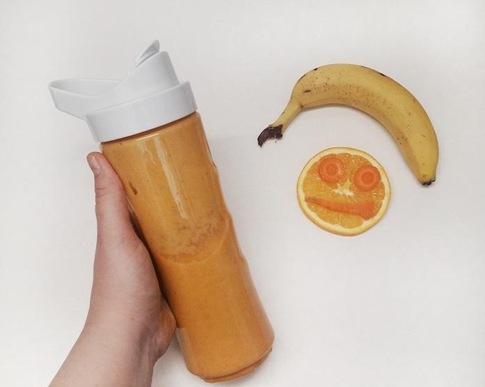smoothie pentru copii portocaliu