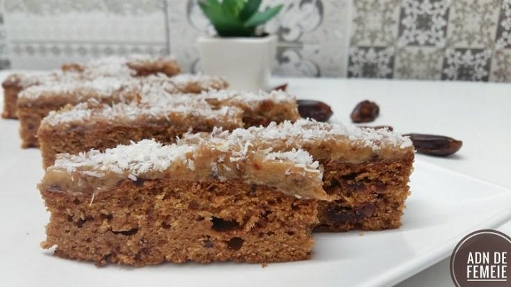prăjitură cu morcovi și curmale desert fara zahar