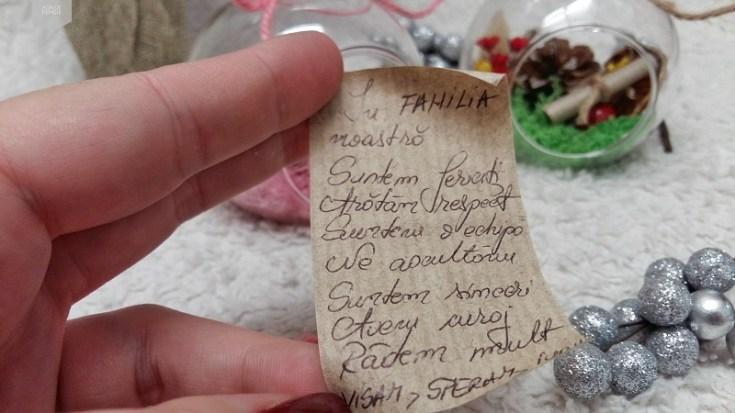 mesaj in glob handmade