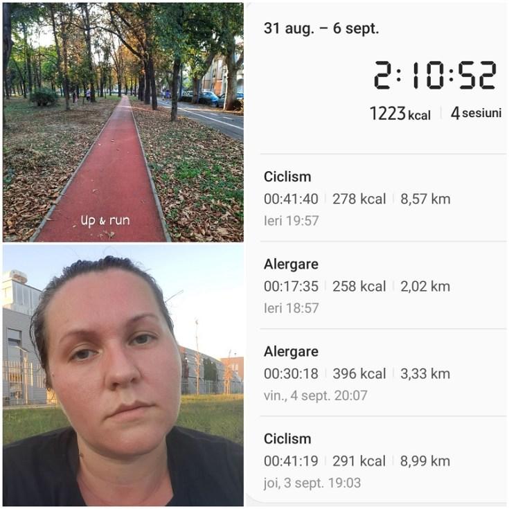 alergare pe o saptamana