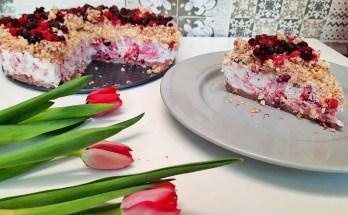 cheesecake marmorat cu fructe de pădure