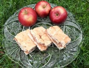 Prăjitură fără zahăr cu mere răzuite. Fără făină albă