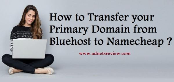 how to transfer your primary domain from bluehost to namecheap