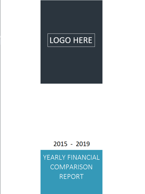 Yearly Financial Comparison Report Template - Cover Report