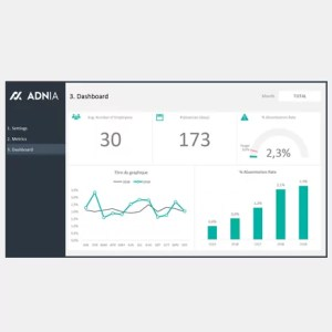 Absenteeism Dashboard Template - Cover