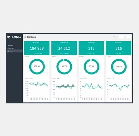 Dashboard Design Layout Template 5 - Cover