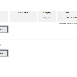 Automated Weekly Schedule Excel Template - Categories