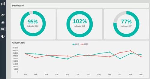 Light-Dashboard - Excel Dashboard Design Duo Theme 2