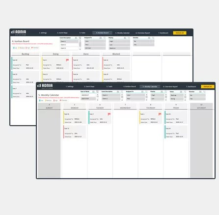 Event Planning Excel Template - Cover