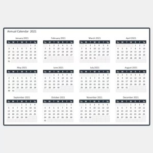 Free Annual Calendar -cover