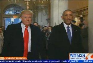 llegan trump y obama