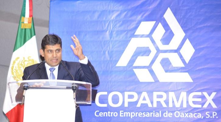 """Llama Coparmex a todos los actores a firmar un """"Acuerdo por Oaxaca"""" (23:40 h)"""
