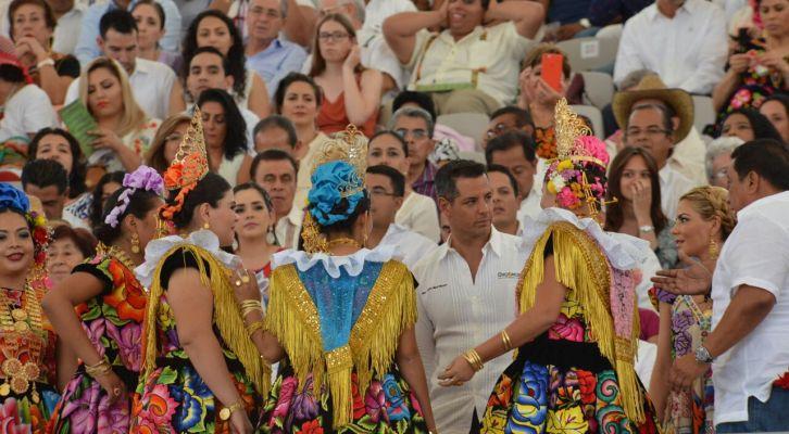 Concluye Guelaguetza matutina (13:52 h)