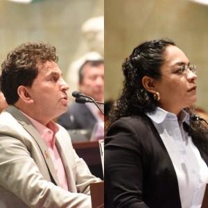 Juan Vera y Laura Vignon