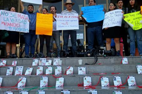 En 2017 murieron asesinados 81 periodistas, 13 en México
