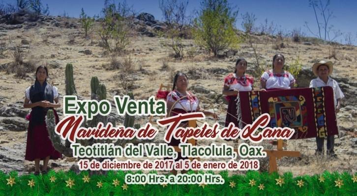 Anuncian Expo Venta Navideña de Tapetes de Lana en Teotitlán del Valle (10:00 h)