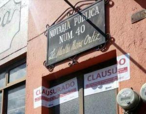 clausuran notaria