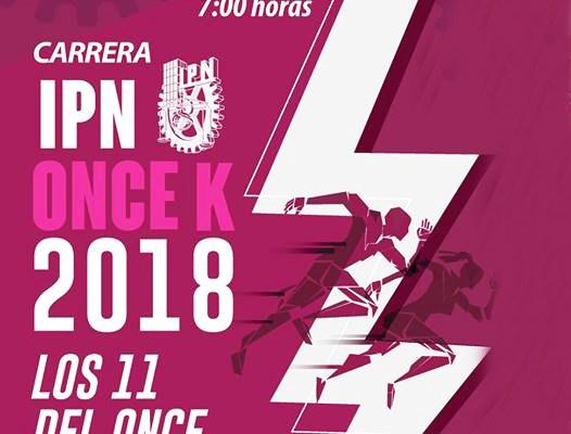 5 y 11 kilómetros tendrá la nueva edición de la Carrera IPN Once k 2018 (16:00 h)