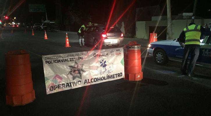 24 horas de arresto inconmutable a 4 conductores que no pasaron prueba de alcoholímetro (19:00 h)