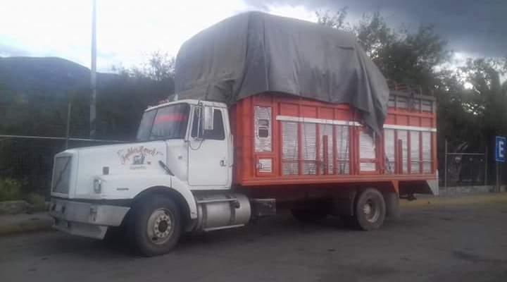 Hurtan camión cargado de ganado en Teposcolula (20:00 h)