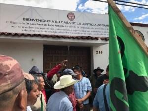protesta api tribunal agrario